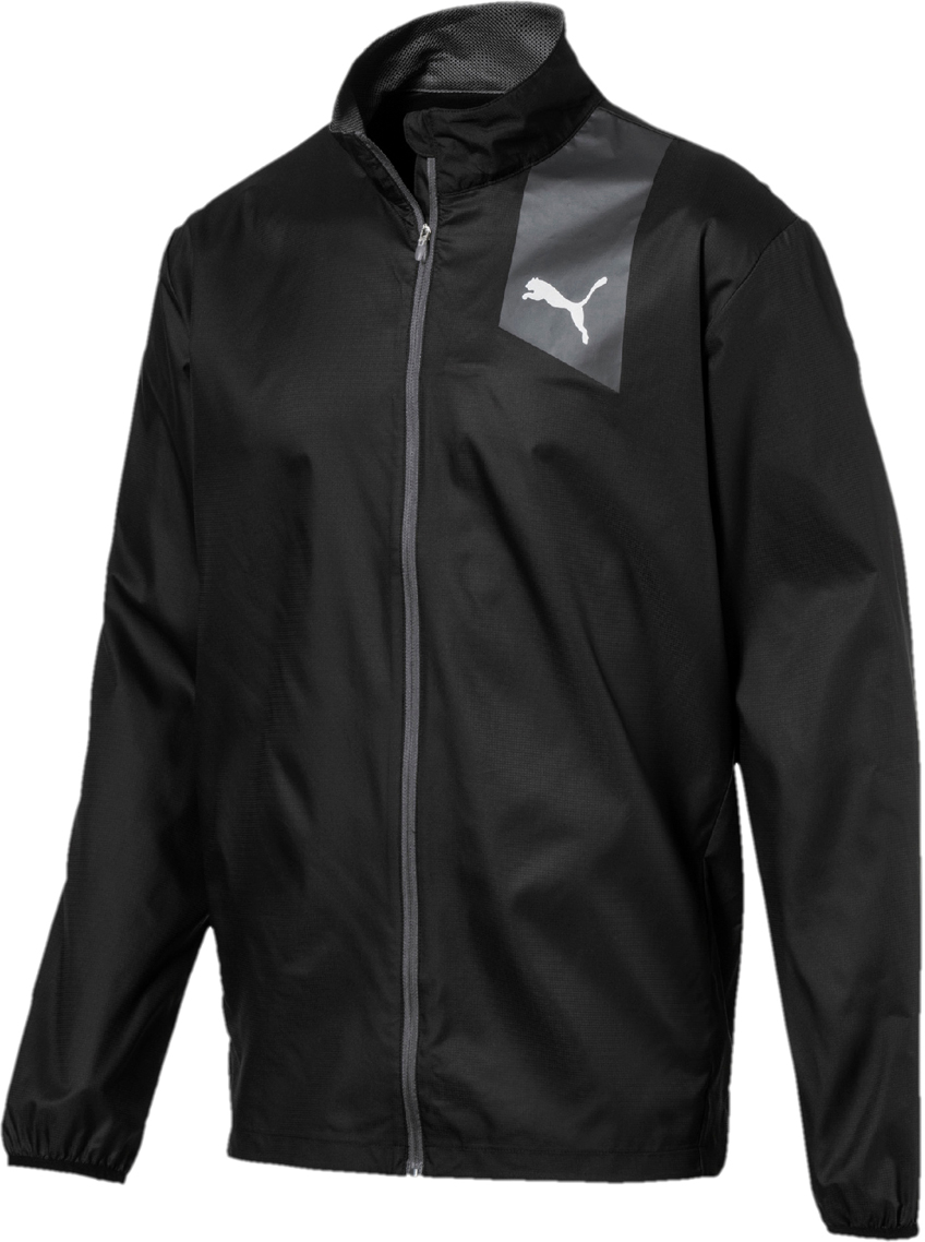Ветровка мужская Puma Ignite Jacket, цвет: черный, серый. 51700606. Размер XXL (52/54) 4pcs set hand tap hex shank hss screw spiral point thread metric plug drill bits m3 m4 m5 m6 hand tools