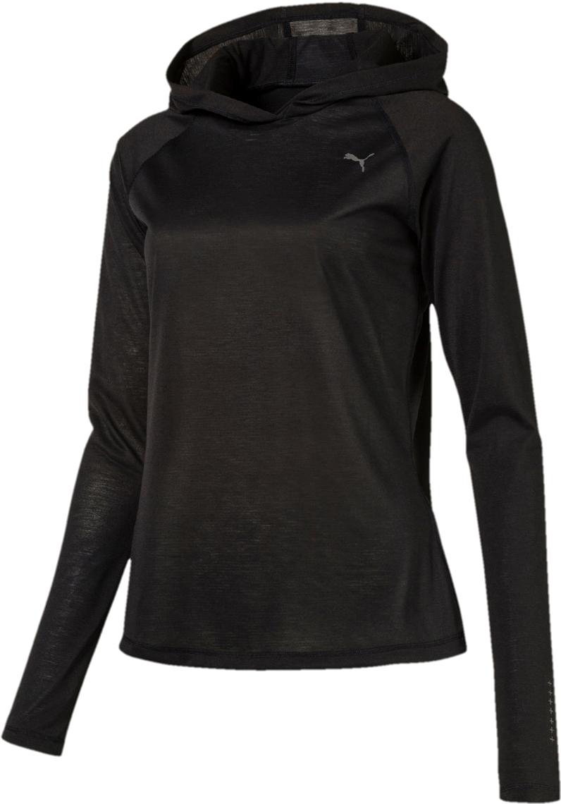 Лонгслив женский Puma L S Hoody Tee W, цвет: черный. 51667701. Размер L (46/48) original new arrival 2018 puma pace primary fz hoody men s jacket sportswear