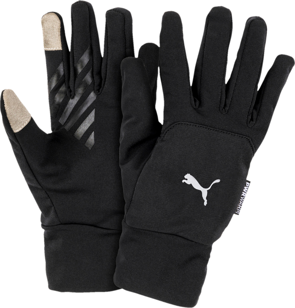 Перчатки Puma Pr Warm Gloves, цвет: черный. 04146201. Размер S (7)