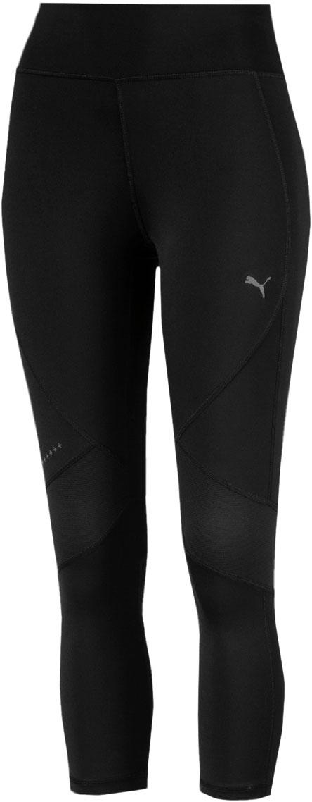 Тайтсы женские Puma Ignite 3 4 Tight W, цвет: черный. 51668504. Размер L (46/48)