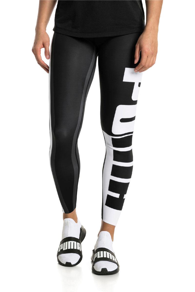 Тайтсы женские Puma VarsityTight, цвет: черный, белый. 51707201. Размер L (46/48)