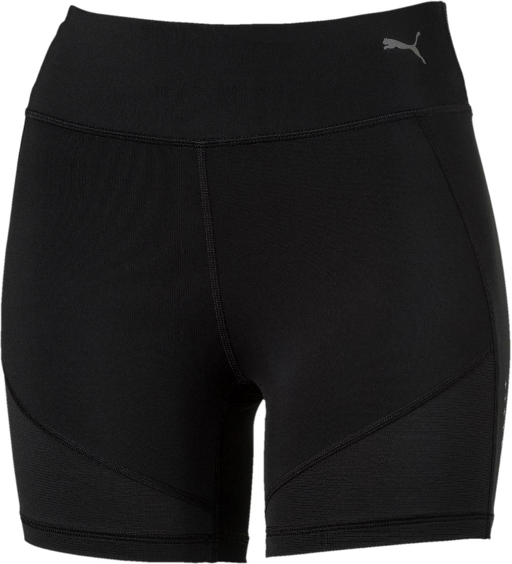 Шорты женские Puma Ignite Short Tight W, цвет: черный. 51668403. Размер XL (48/50) arsuxeo ar109 sports cycling running short sleeve tight fit jersey top fluorescent green l