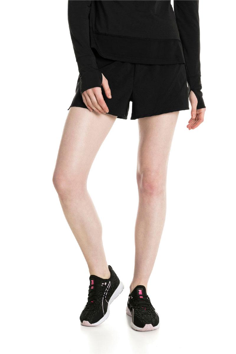 Шорты женские Puma Ignite Shorts 3' W, цвет: черный. 51668001. Размер L (46/48) zengli mens denim cargo shorts jeans casual vintage blue pockets biker jeans summer knee length denim shorts 40 42 44 46 48