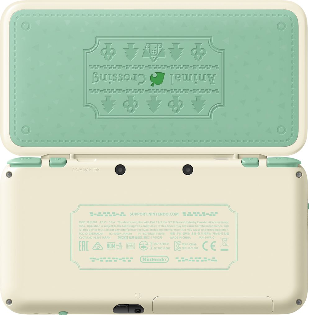 New Nintendo 2DS XL Animal Crossing Edition, Gray портативная игровая приставка protective hard case w carabiner clip for nintendo 3ds black
