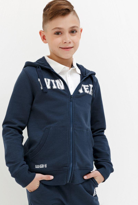 Толстовка для мальчика Acoola Corbusier, цвет: синий. 20110170041_500. Размер 170 футболка для мальчика acoola remark цвет светло бежевый 20110110105 300 размер 170