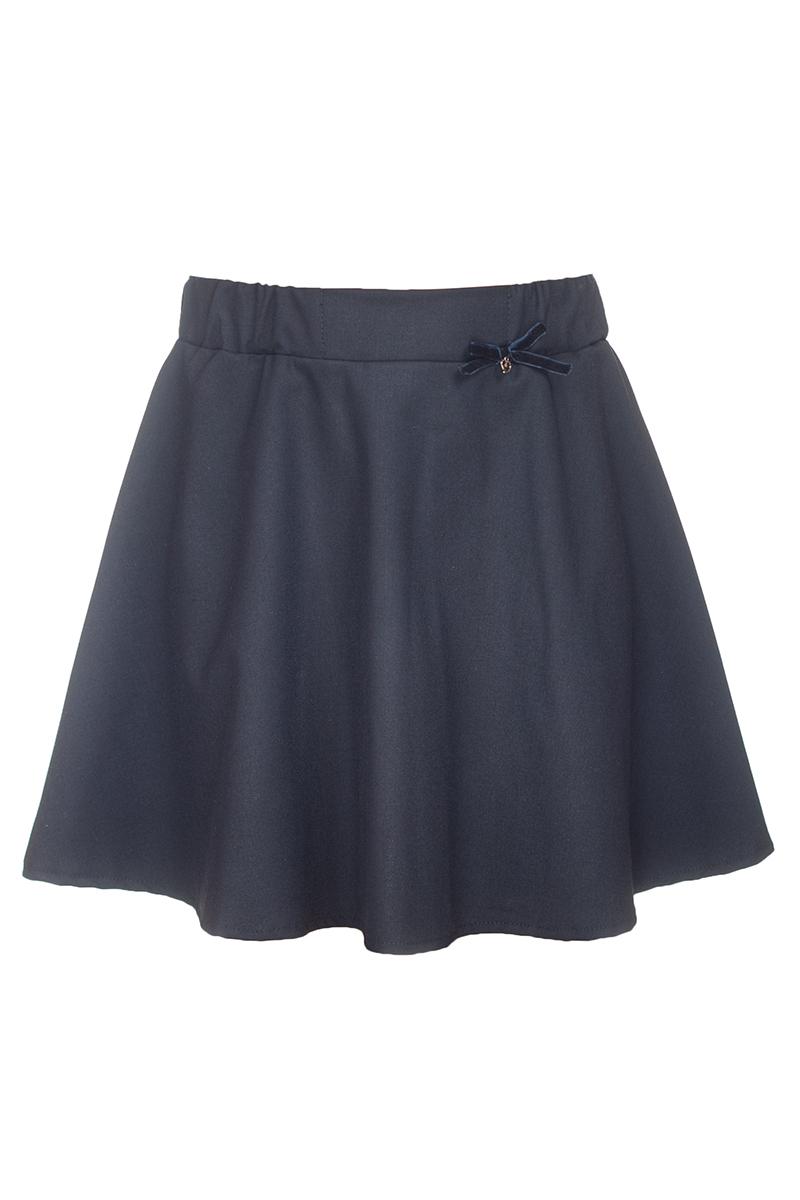 Юбка для девочки Nota Bene, цвет: темно-синий. 181221402_29. Размер 122