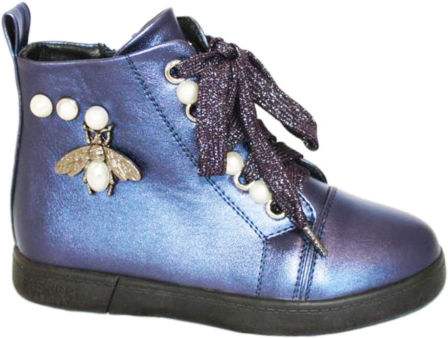 Ботинки для девочки 1296,37, цвет: синий. 919. Размер 27