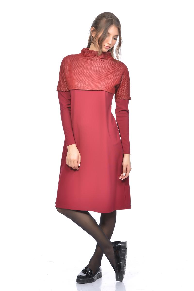 Платье Lautus, цвет: бордовый. 1166. Размер 52
