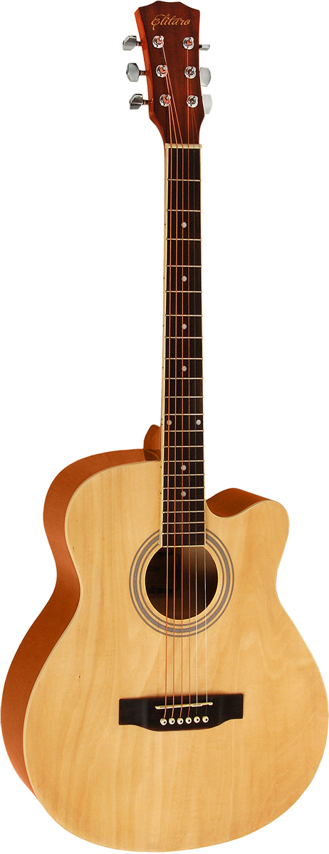 Elitaro E4010C, Beige акустическая гитара