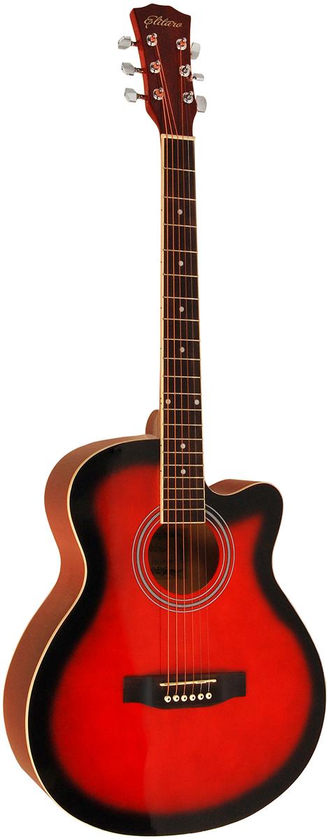 Elitaro E4010C, Red акустическая гитара