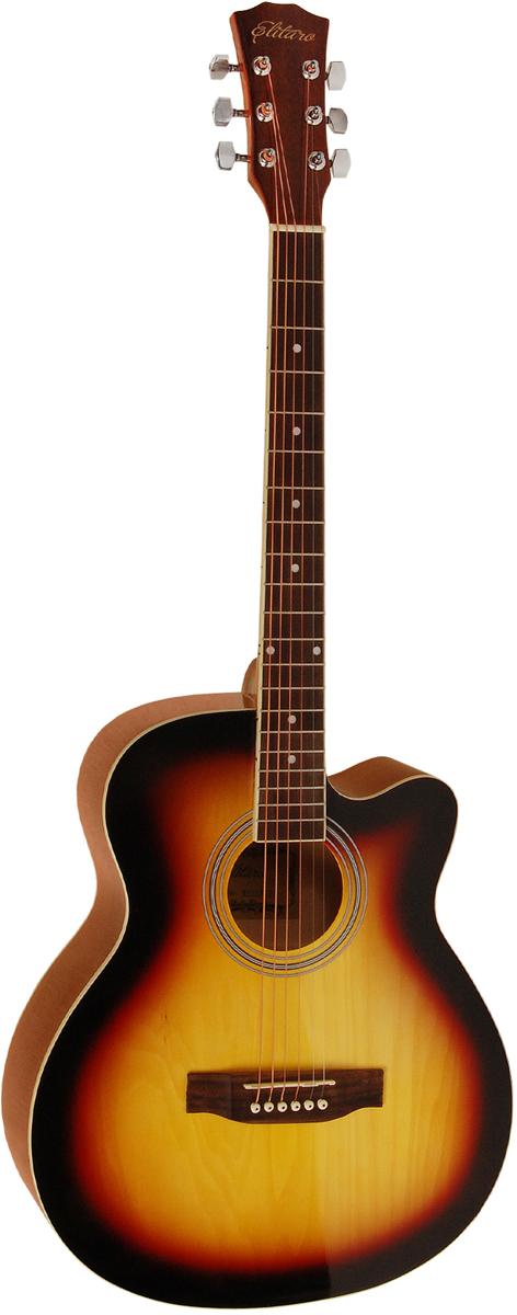 Elitaro E4010C, Yellow акустическая гитара