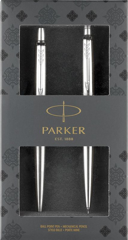 Parker Набор Ручка шариковая + Механический карандаш Jotter Stainless Steel CT new safurance 200w 12v loud speaker car horn siren warning alarm stainless steel home security safety