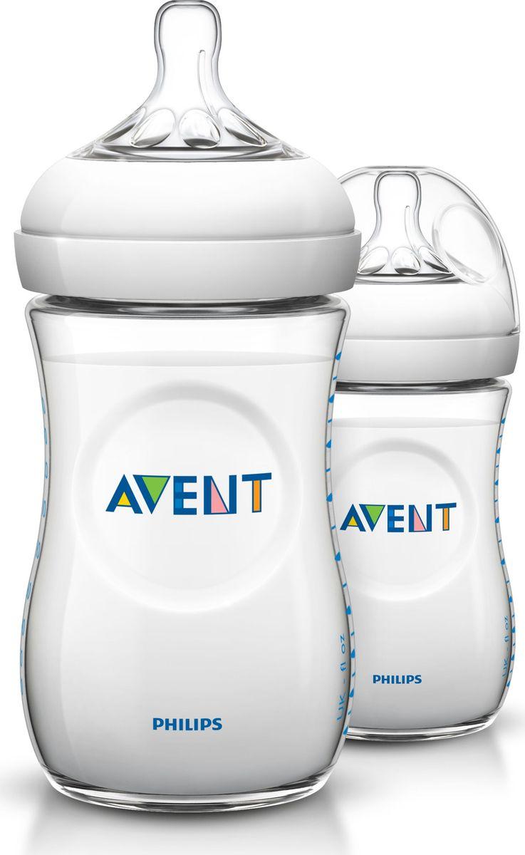 Philips Avent Бутылочка для кормления Natural от 1 месяца 260 мл 2 шт SCF693/27 avent standard бутылочка для кормления 300 мл 1 шт