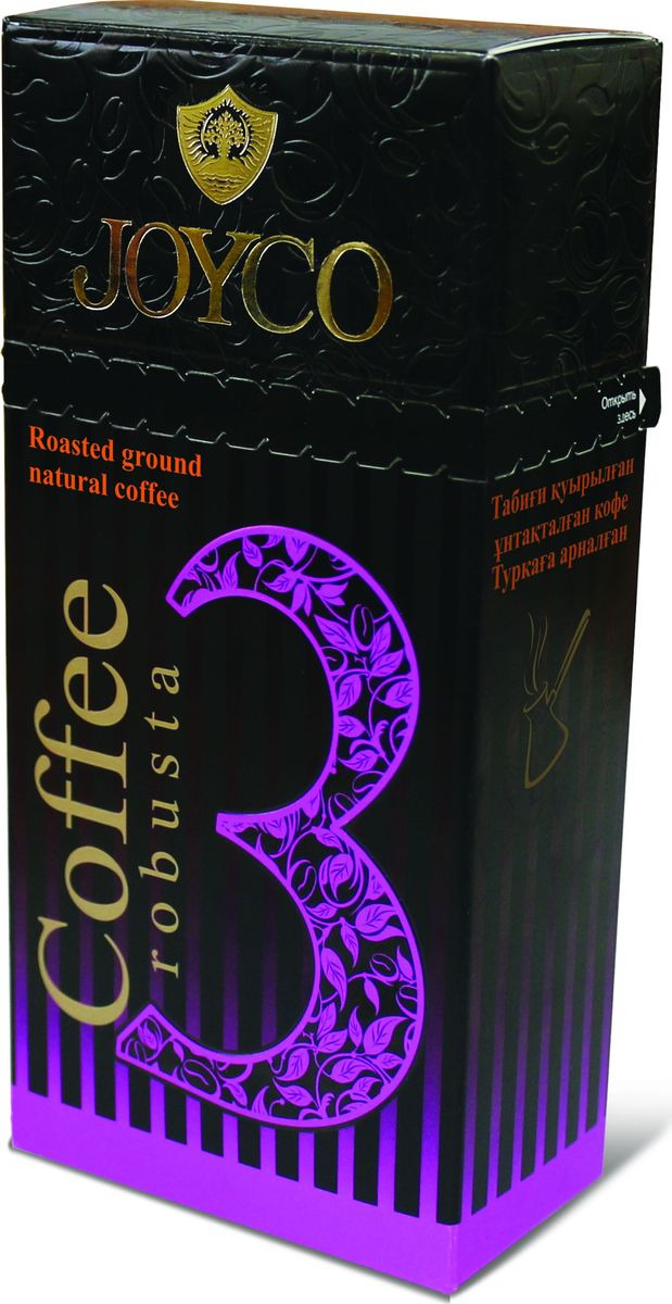 JOYCO Кофе молотый №3 (robusta), 100 г casa rinaldi кофе молотый красный натуральный 250 г
