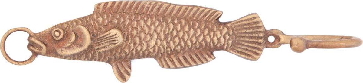 Вешалка-крючок Ethnic Chic Рыба, 1 крючок, цвет: бронзовый. 6500797-1