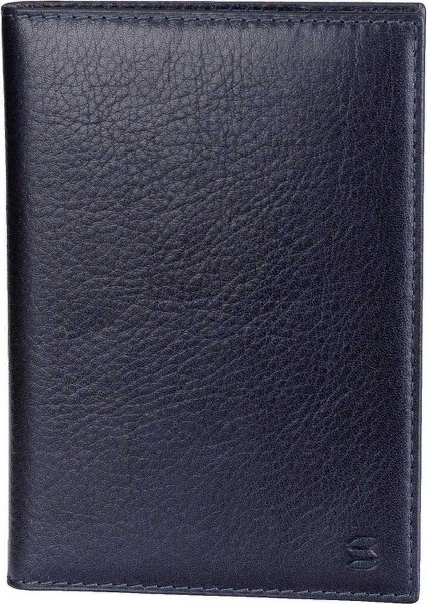 Обложка для паспорта Soltan, цвет: темно-синий. 005 23 07 обложка для паспорта женская soltan цвет красный 012 02 05