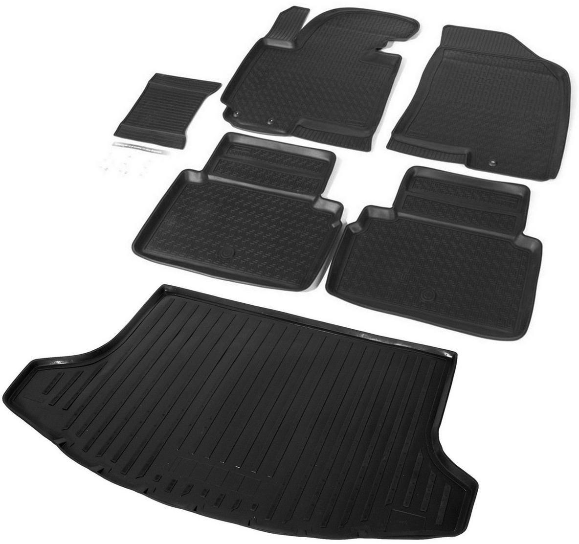 Купить Комплект ковриков салона и багажника Rival для Kia Sportage 2010-2016, полиуретан. K12805001-2