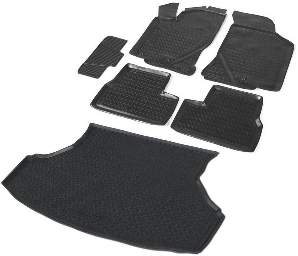 Комплект ковриков салона и багажника Rival для Lada Granta седан 2011-н.в., полиуретан. K16001001-2