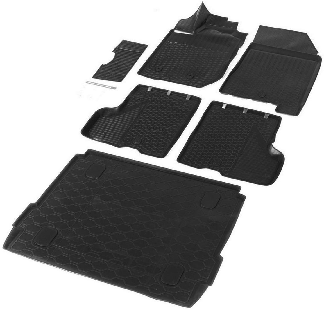 Купить Комплект ковриков салона и багажника Rival для Lada Xray (c полкой) 2016-н.в., полиуретан. K16007001-3