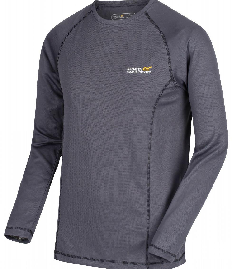 Термобелье футболка мужская Regatta Beckley Top цвет: серый. RMU025-38. Размер XXL (58/60) термобелье брюки fisherman nova tour бэйс v2 цвет графит 95359 924 размер xxl 58