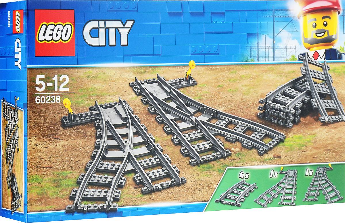 купить LEGO City Trains Конструктор Железнодорожные стрелки 60238 по цене 869 рублей