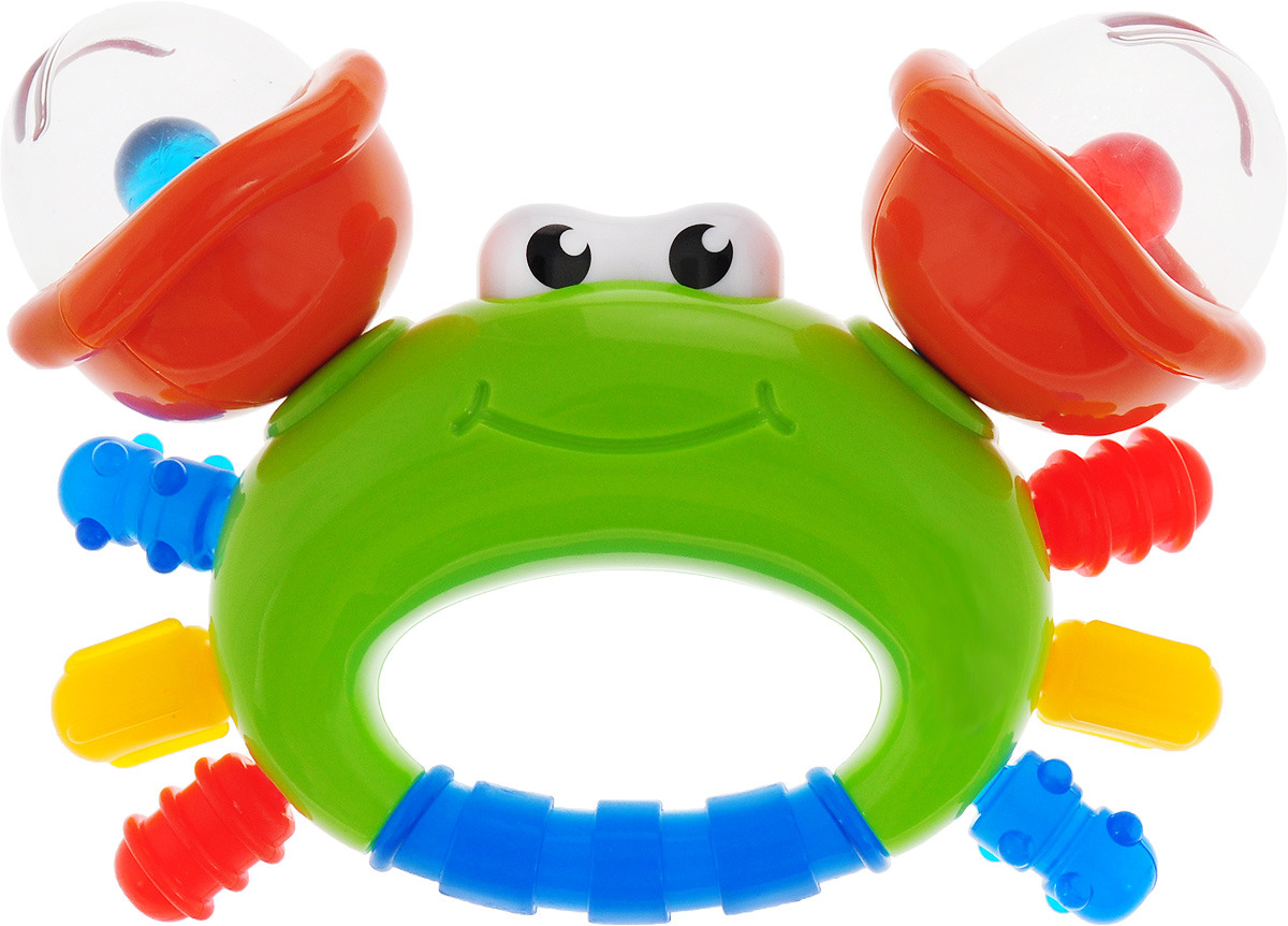 B kids Прорезыватель Веселый краб цвет зелный оранжевый синий регулируемая скамья kraft fitness kffiuby