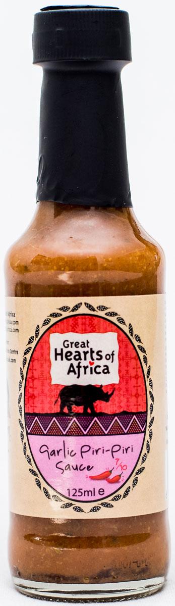 Соус c чесноком и перцем пири-пири, острота 7/10 Great Hearts of Africa, 125 мл, Great Heart Africa
