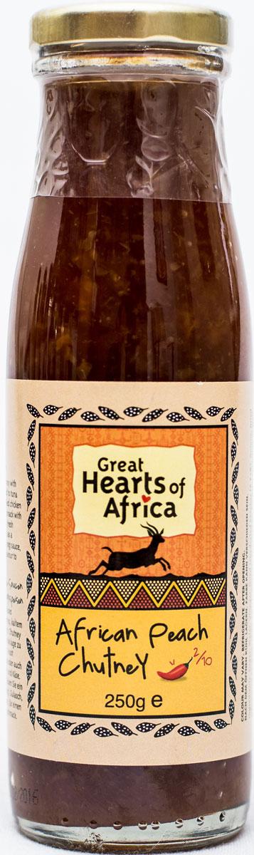 Соус чатни с персиками, острота 2/10 Great Hearts of Africa, 250 мл high waist printed africa skirt