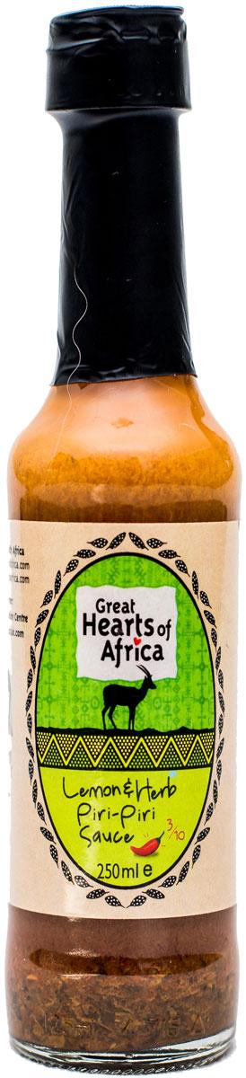 Соус с лимоном, перцем пири-пири и пряными травами, острота 3/10 Great Hearts of Africa, 250 мл конфеты вкусная помощь для храбрости 250 мл