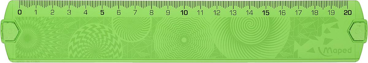 Maped Линейка Geocustom цвет салатовый 20 см точилка maped signal цвет салатовый белый