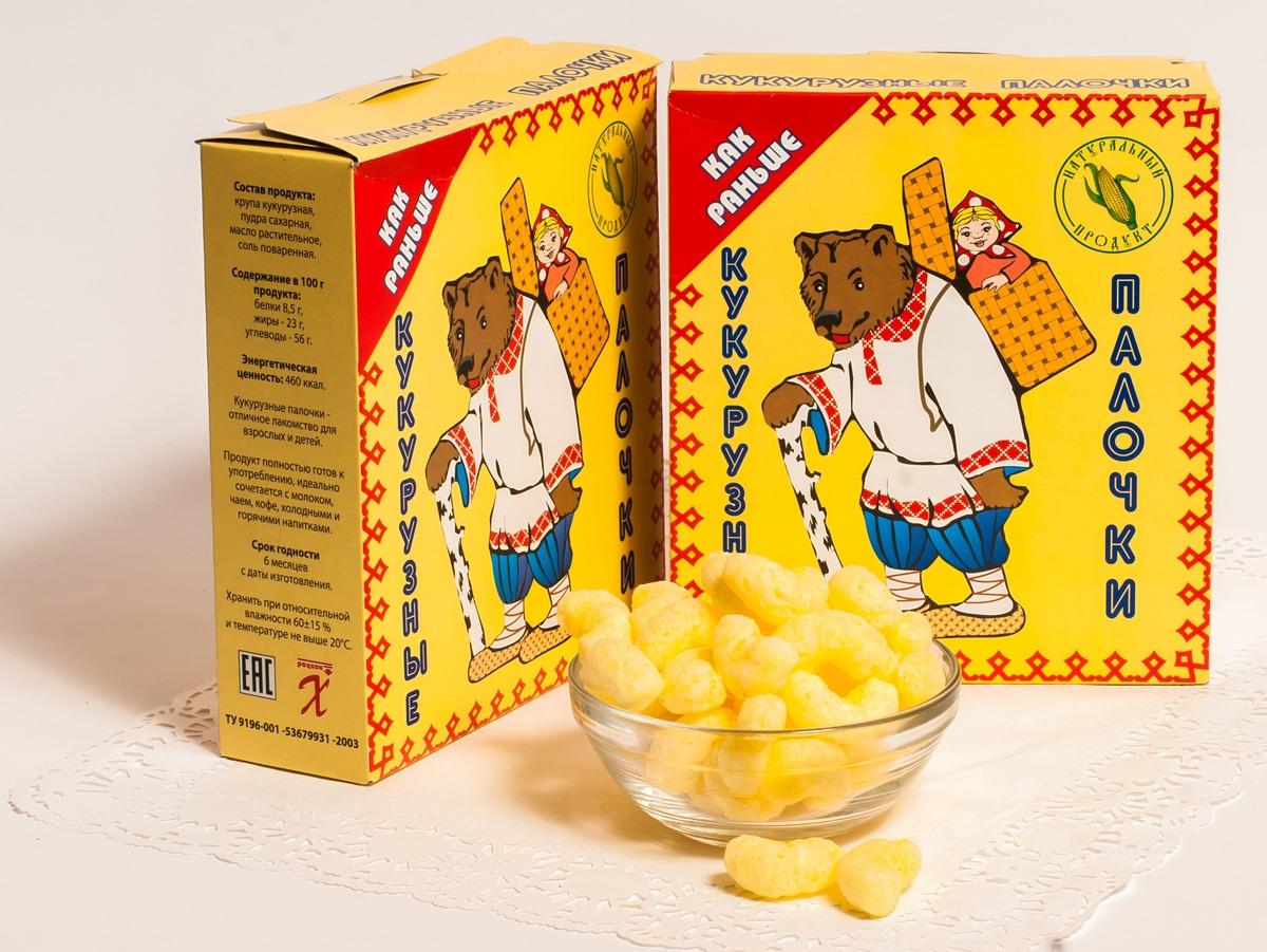 """Кукурузные палочки """"Как раньше в сахарной пудре"""" ТМ """"ХРУСтепка"""" - полностью готовый натуральный продукт, изготовленный из высококачественной кукурузной крупы. Кукурузные палочки """"Как раньше в сахарной пудре"""" не только готовый завтрак, но и увлекательная игра для детей и взрослых, т.к. на обороте коробки вы найдете макет игрушки, которые вы сможете сделать своими руками вместе с ребенком."""