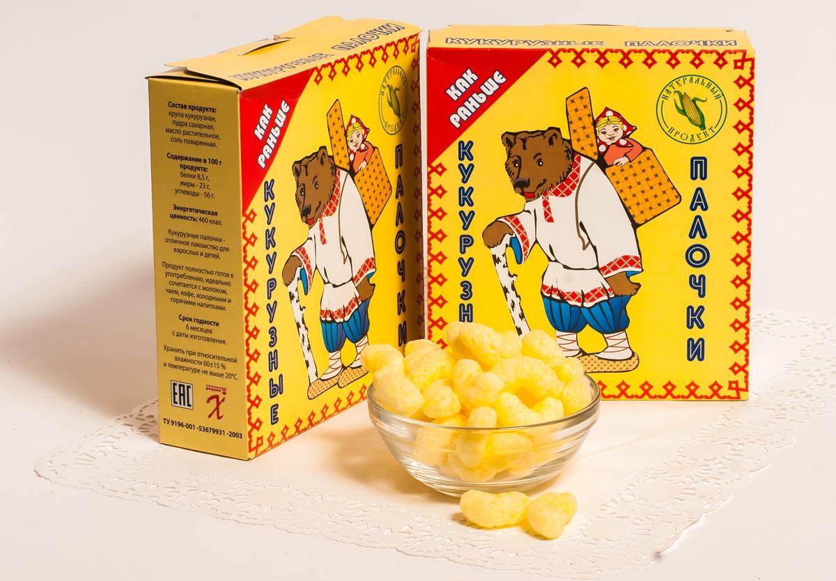Кукурузные палочки в сахарной пудре ХРУСтёпка Как раньше, 80 г Кукурузные палочки
