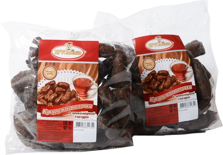 Кукурузные палочки в шоколадной глазури ХРУСтёпка, 120 г Кукурузные палочки в шоколадной глазури ТМ