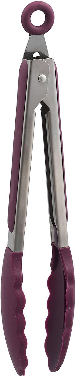 Щипцы кулинарные Paterra, цвет: фиолетовый, серый, длина 22 см щипцы кулинарные 35х4см mb 1224786