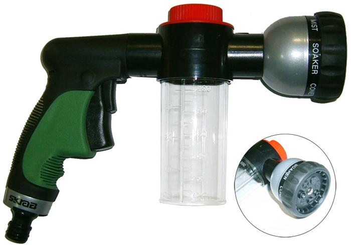 Садовый пистолет для полива Skrab, с диспенсером, 7 режимов приспособление skrab skrab 42520 крюк вязальный для проволоки
