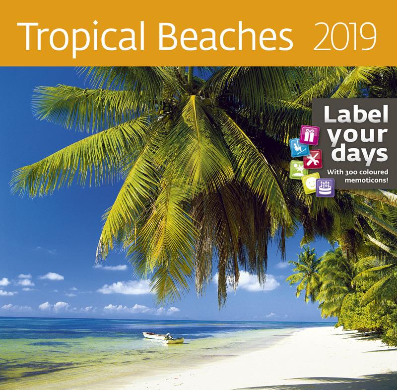 цены Календарь-органайзер: Tropical Beaches (Дикие пляжи) 2019