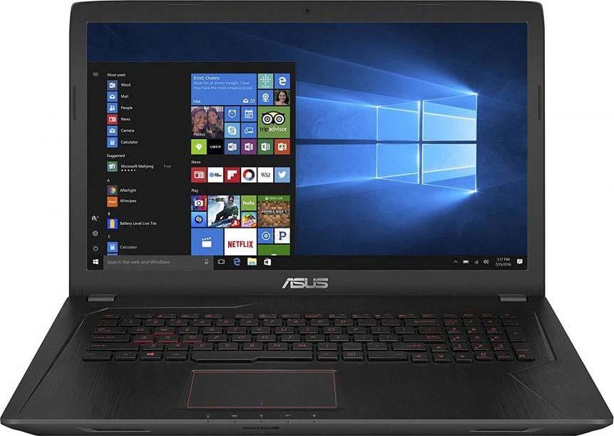 Ноутбук ASUS FX753VD-GC456T, Black Metal ноутбук asus rog gl702vm gc271 17 3