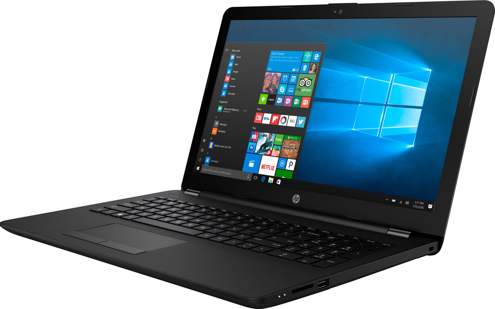 Ноутбук HP 15-bs019ur, Black ноутбук dell vostro 5468 core i5 7200u 4gb 1tb nv 940mx 2gb 14 0 win10 grey