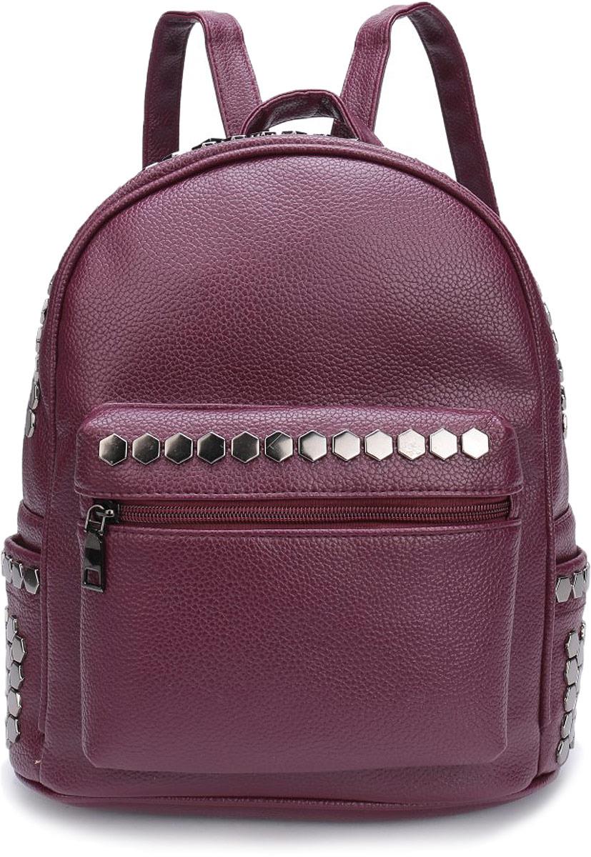 Рюкзак женский Grizzly, цвет: темно-винный. DW-804/2
