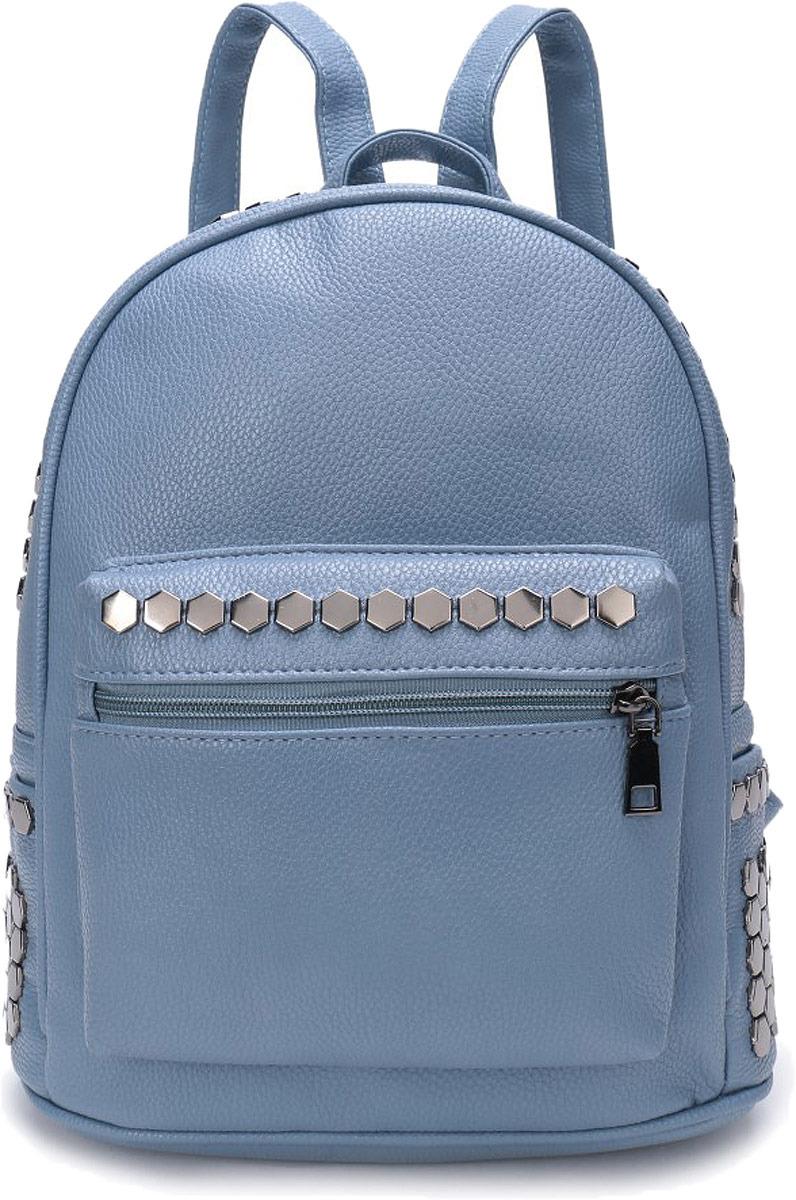 Рюкзак женский Grizzly, цвет: серо-голубой. DW-804/3
