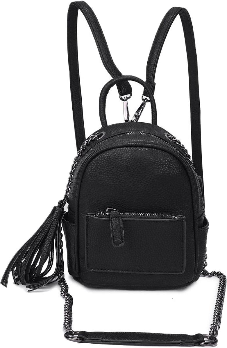 Рюкзак женский OrsOro, цвет: черный. DW-826/1