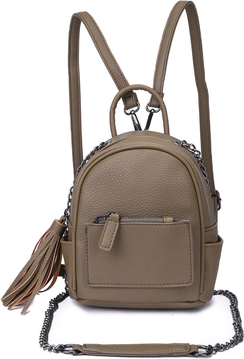 Рюкзак женский OrsOro, цвет: оливковый. DW-826/2