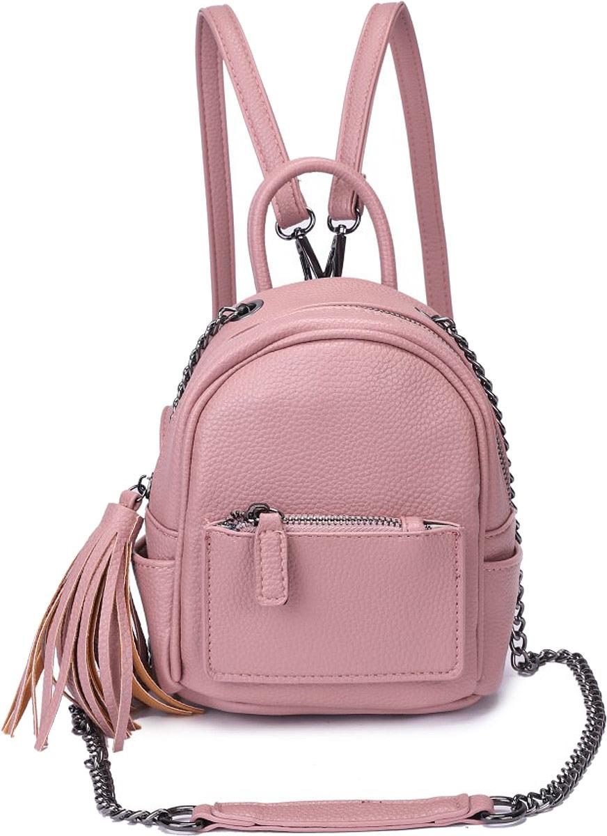 Рюкзак женский OrsOro, цвет: палево-розовый. DW-826/3
