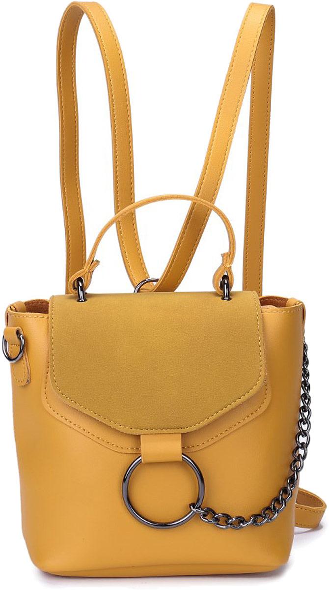 Рюкзак женский OrsOro, цвет: желтый цейлонский. DW-828/5 рюкзак женский adidas bp cl adicolor цвет желтый 27 л cw0634