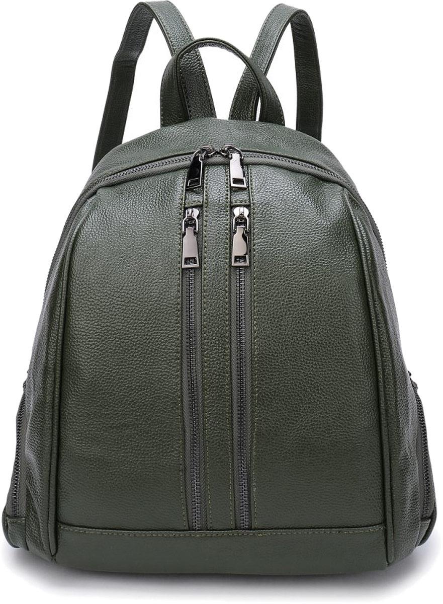 Рюкзак женский OrsOro, цвет: оливковый. DW-853/2