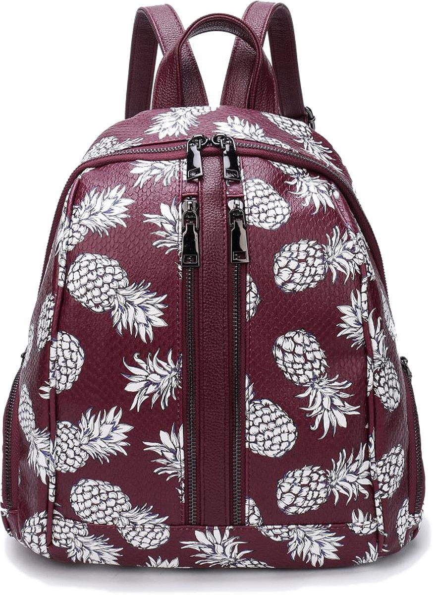 Рюкзак женский OrsOro, цвет: фиолетовый, белый. DW-853/3