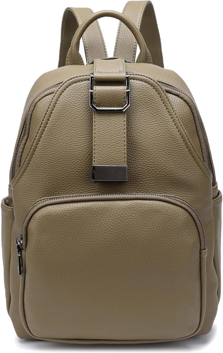 Рюкзак женский OrsOro, цвет: оливковый. DW-800/4