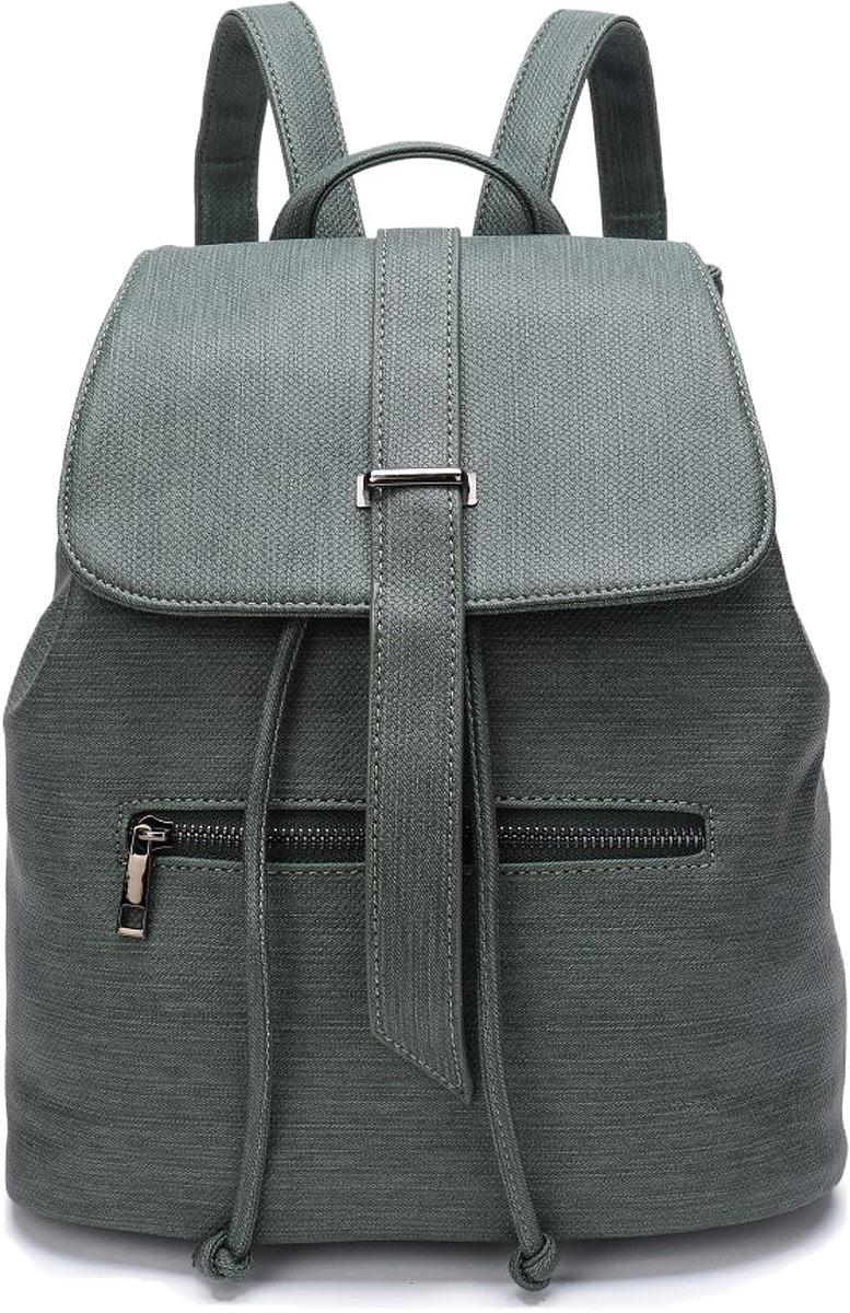 Рюкзак женский OrsOro, цвет: зеленый джинс. DW-815/3