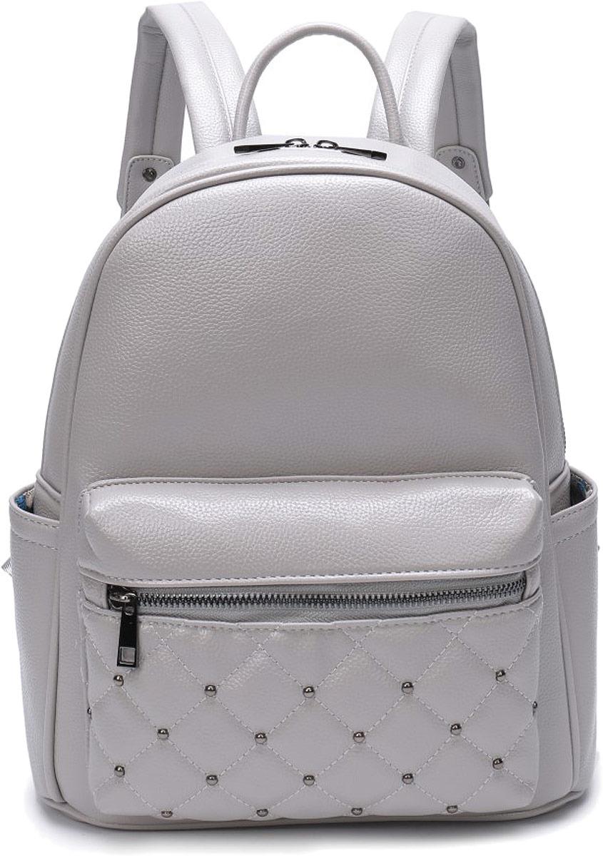 рюкзак одно отделение на молнии, 2 бегунка, внутренний карман на молнии, карман для телефона, боковые карман, карман на передней стенке на молнии.