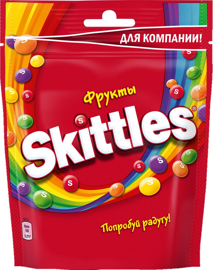 Жевательные конфеты в глазуриSkittles Pouch Фрукты, 165 г sweet doctor конфеты от серых будней 50 гр